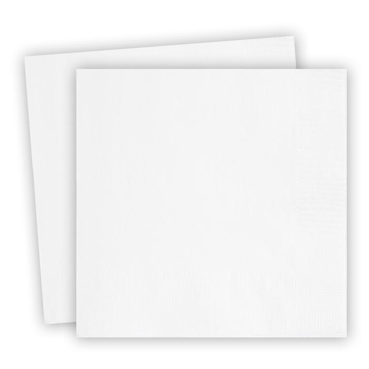 Big Value 2 Ply Paper Napkins White (x100)