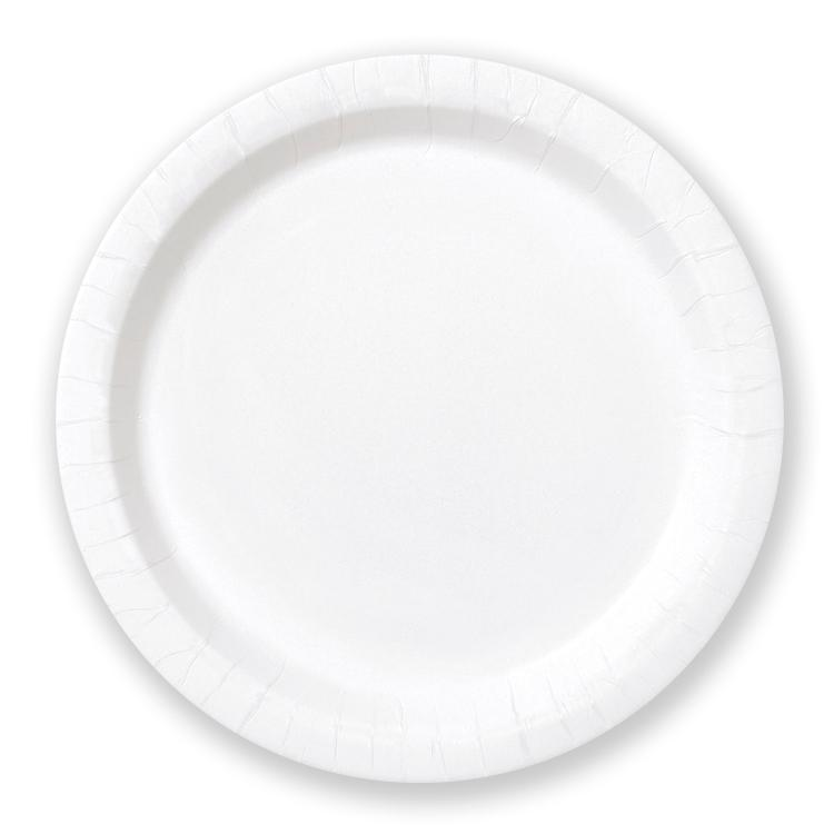 Big Value 7in Paper Party Plates White (x100)