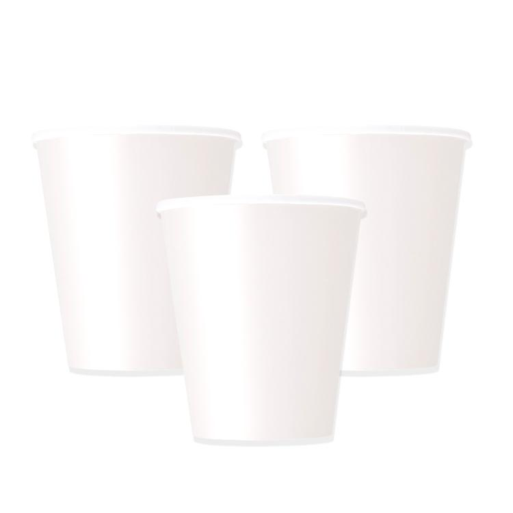 Big Value Paper Party Cups White (x84)