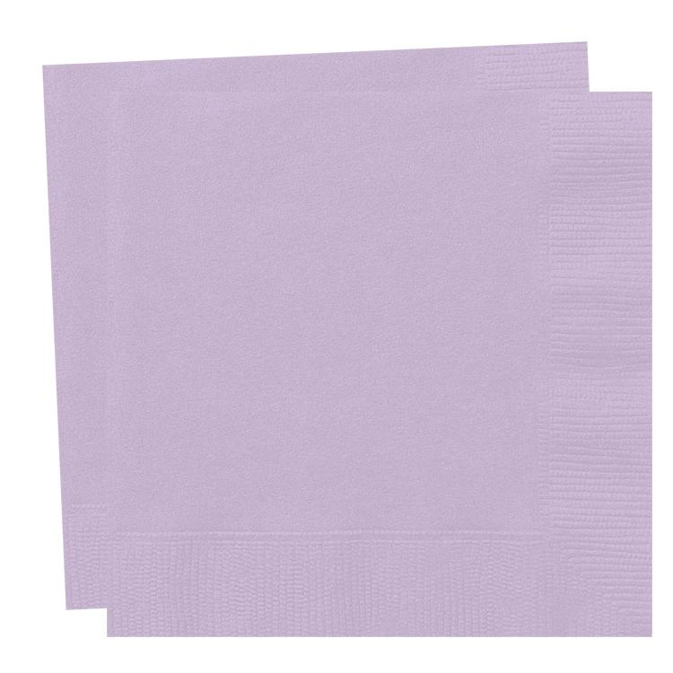 Big Value Paper Napkins Lavender (x100)