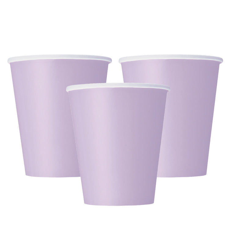 Big Value Paper Party Cups Lavender