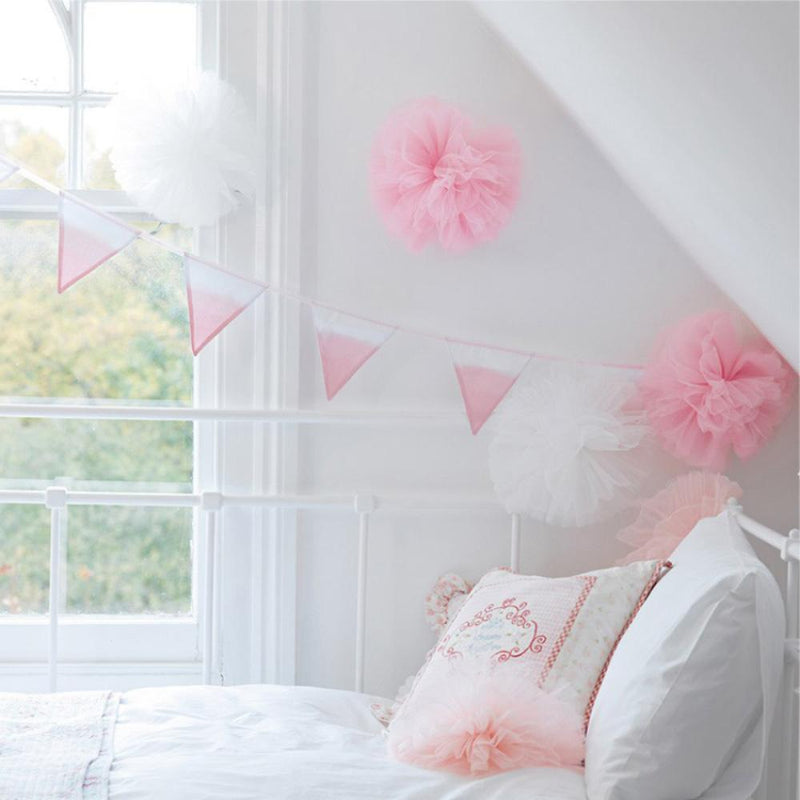 Tulle Pom Pom Decorations (x3)