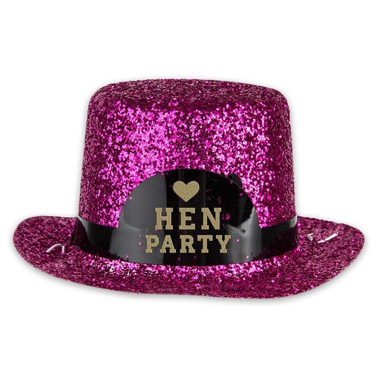 Hen Party Mini Glitter Hat