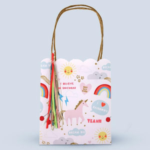 Unicorn and Rainbow Print Party Bags (x8)