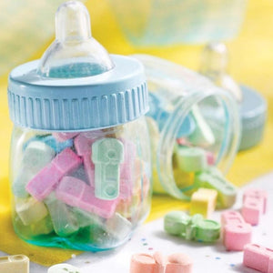 Baby Bottle Fillable Multi-Coloured (x6)