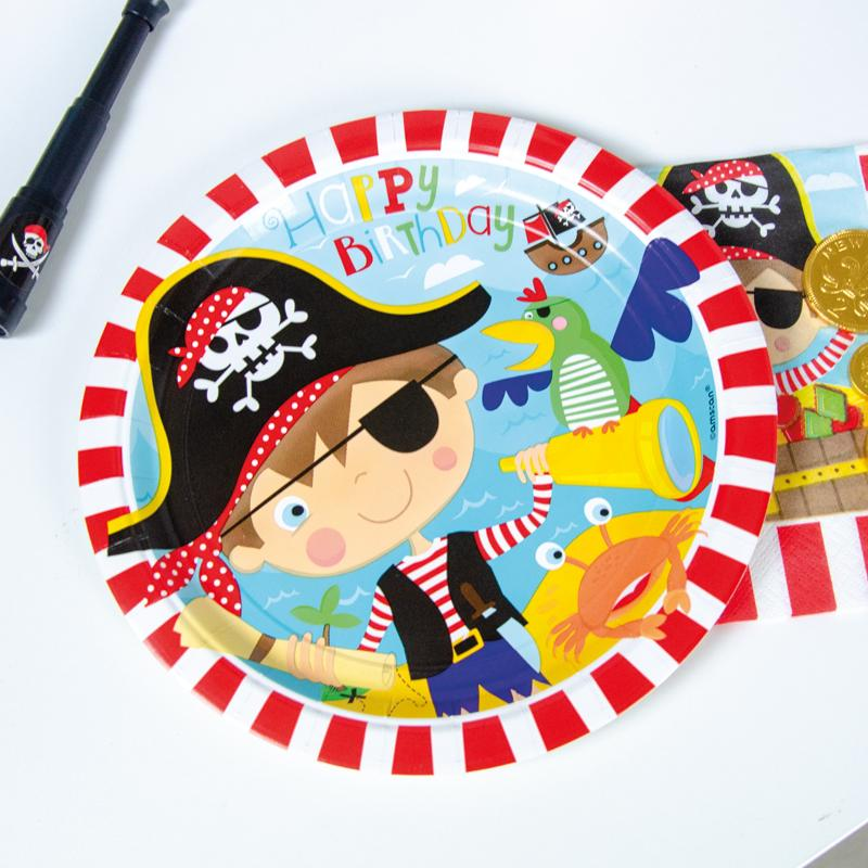 Little Pirate Paper Party Plates (x8)