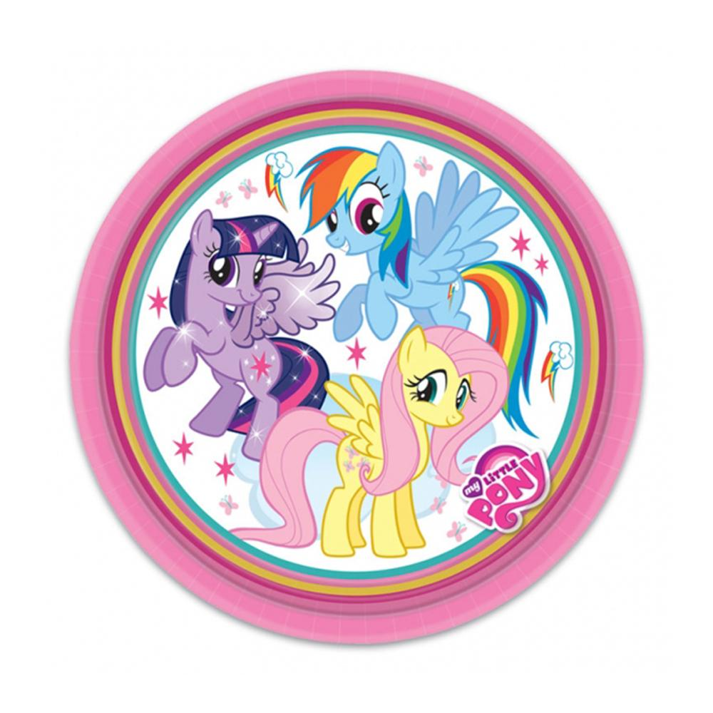 My Little Pony Rainbow Paper Party Plates (x8)