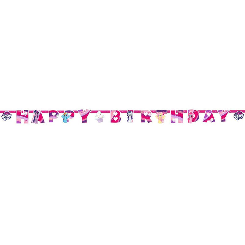 My Little Pony Rainbow Happy Birthday Banner
