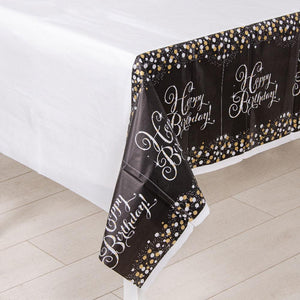 Gold Celebration Plastic Party Table Cover