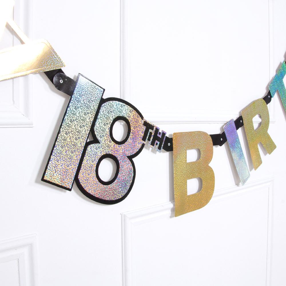 18th Birthday Gold Celebration Letter Banner
