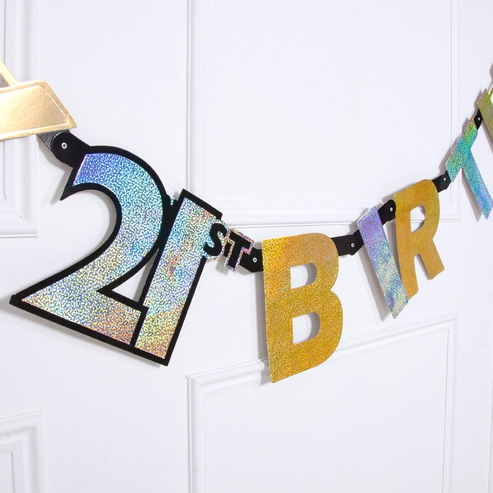 21st Birthday Gold Celebration Letter Banner