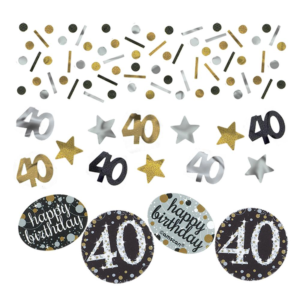40th Birthday Gold Celebration Table Confetti