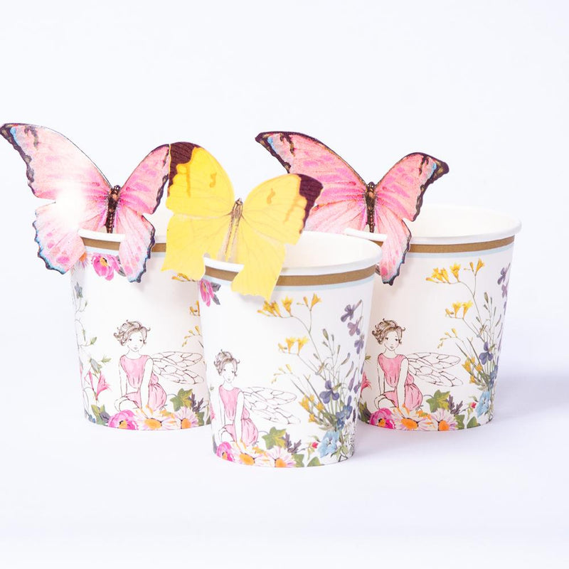 Truly Fairy Paper Party Cups with Butterfly Detail (x12)