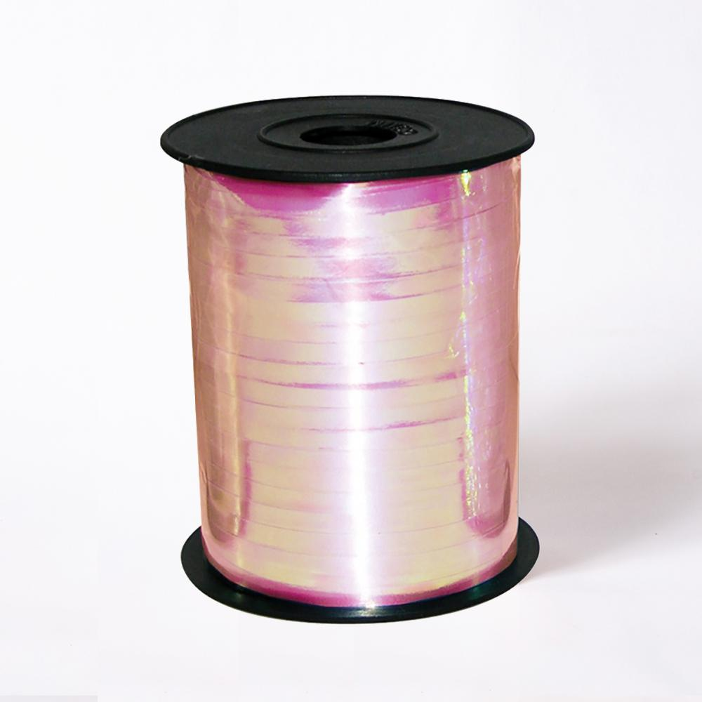 A reel of shiny pink party ribbon
