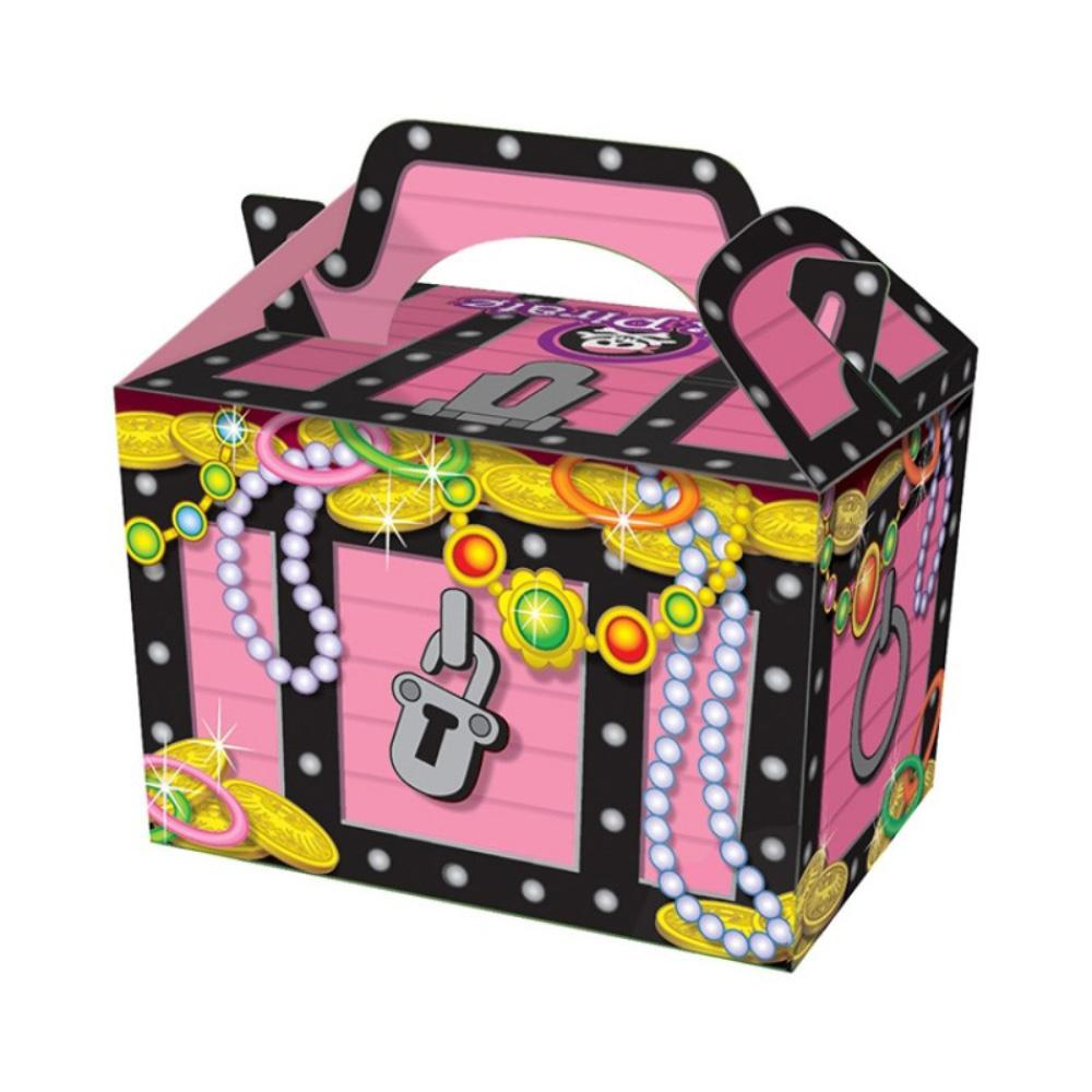 Pink Treasure Chest Party Boxes (x4)