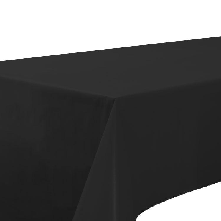 Black Plastic Party Table Cover