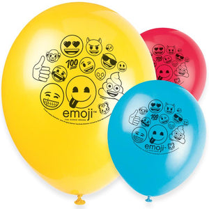 Emoji Latex Party Balloons (x8)