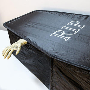 Life-Sized Pop-Up Fabric Coffin