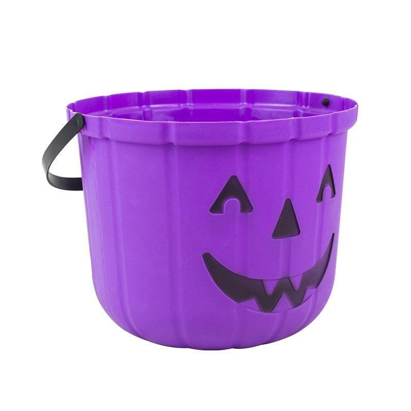 Pumpkin Halloween Bucket Purple
