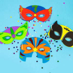 Superhero Masks (x4)