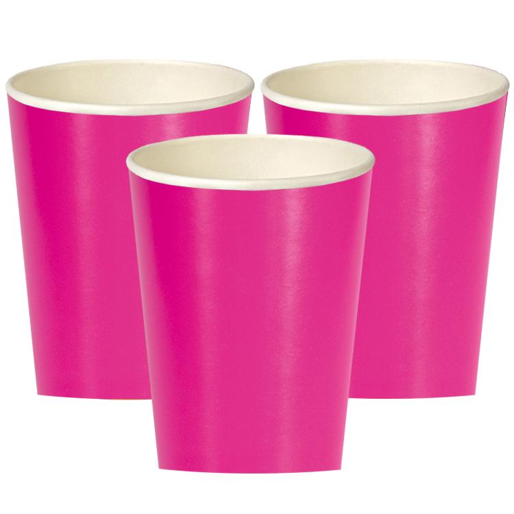 Neon Pink Cups (x14)