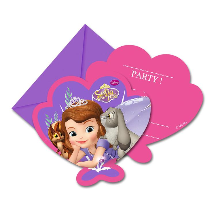 Disney Sofia Pearl of the Sea Invitations (x6)