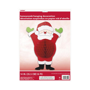 Santa Honeycomb Hanging Decoration