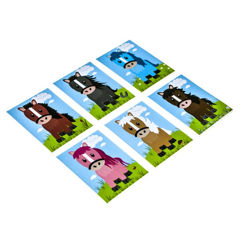 Pony Mini Memo Pads (x6)