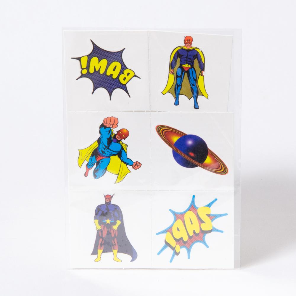 Mini Superhero Tattoos (x8)