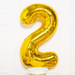 "Supershape Gold 34"" Helium Balloon Number 2"