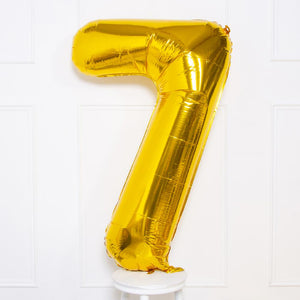 "Supershape Gold 34"" Helium Balloon Number 7"