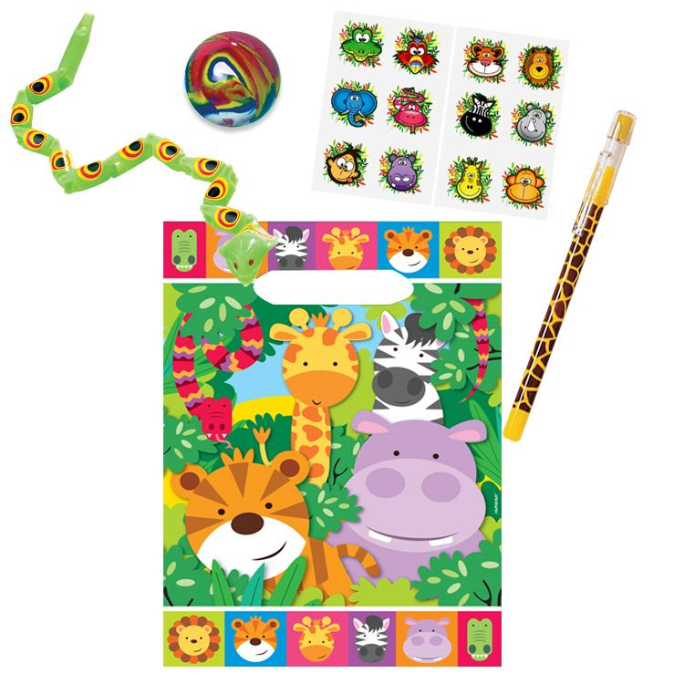 Jungle Friends Filled Party Bag Kit (8 guests)