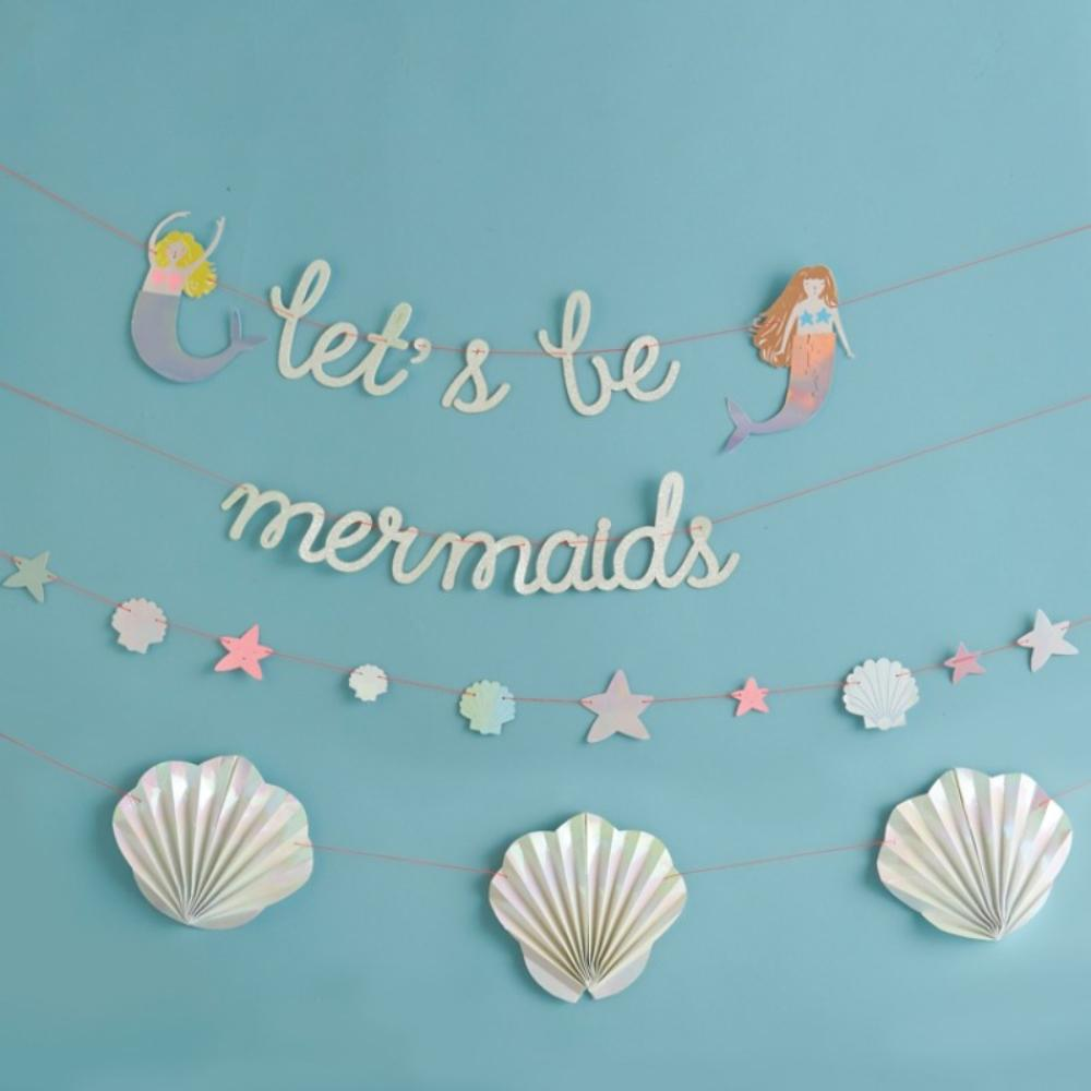 Lets Be Mermaids Party Garland
