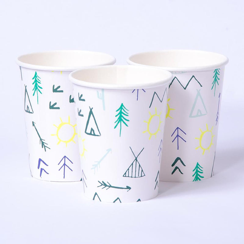 Lets Explore Paper Party Cups (x8)