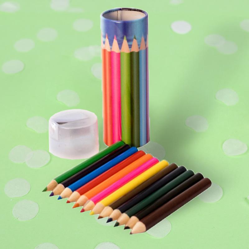 Colouring Pencils Tin with Sharpener