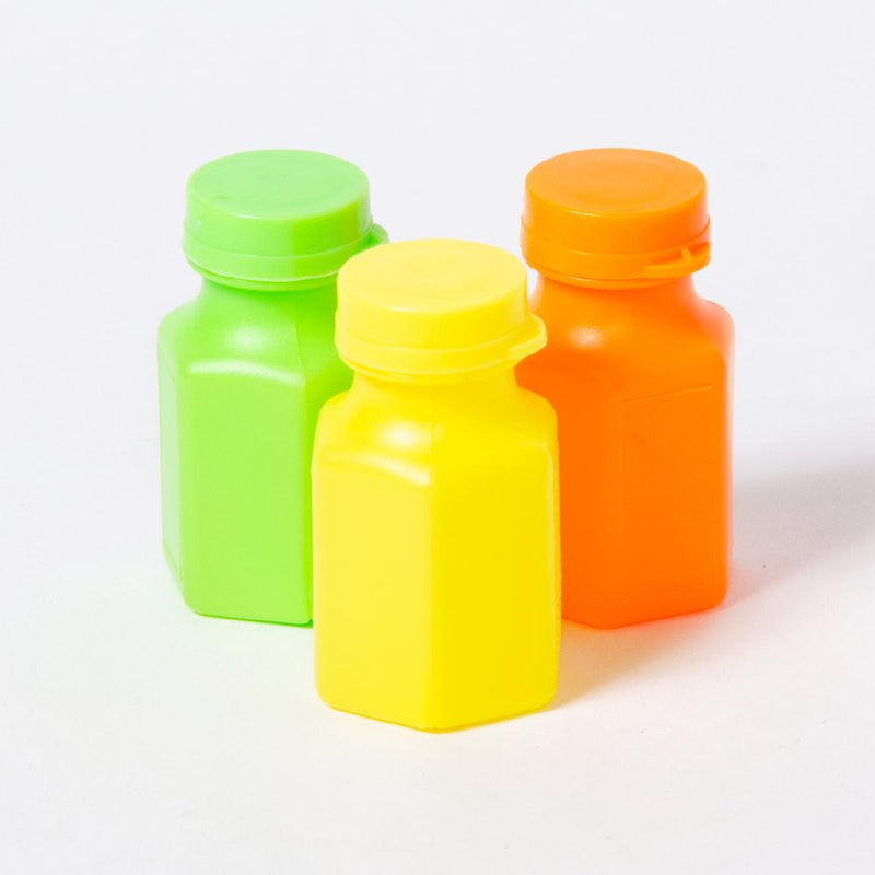A set of 3 mini bubble bottles in different colours