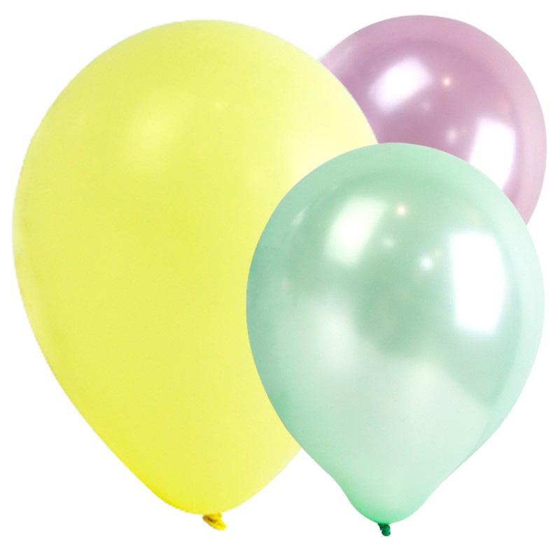 Assorted Pastel Party Balloons (x12)