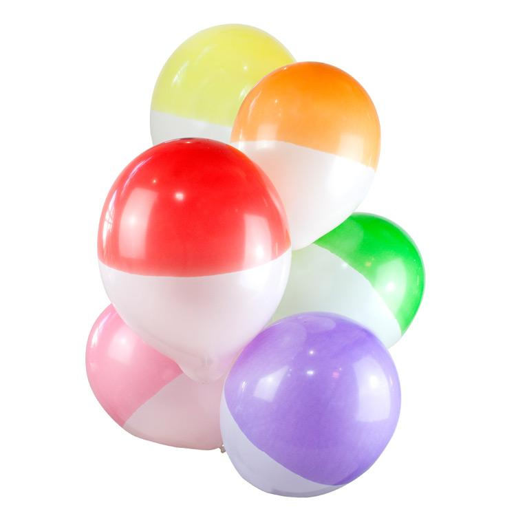 Two Tone Dipped Party Balloons (x12)