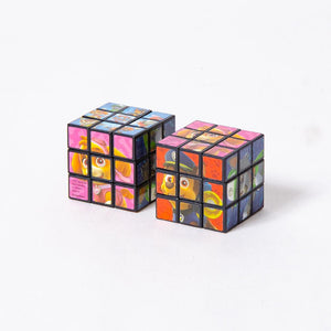 2 Paw Patrol-themed puzzle cubes on a white background