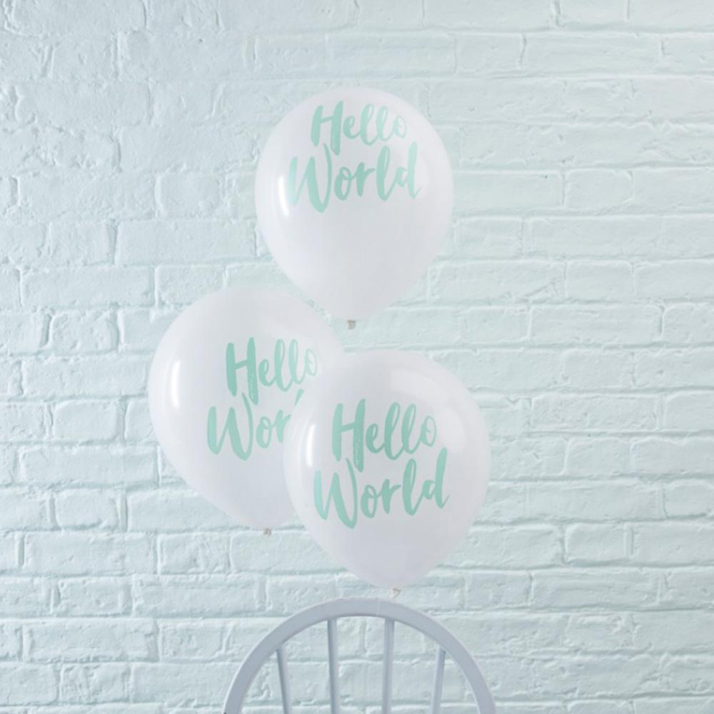Hello World Party Balloons (x10)