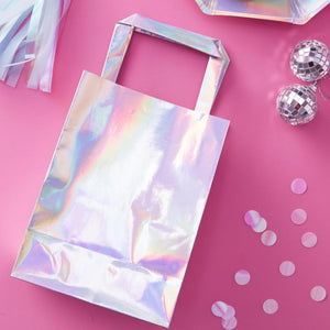 Iridescent Rainbow Party Bags (x5)