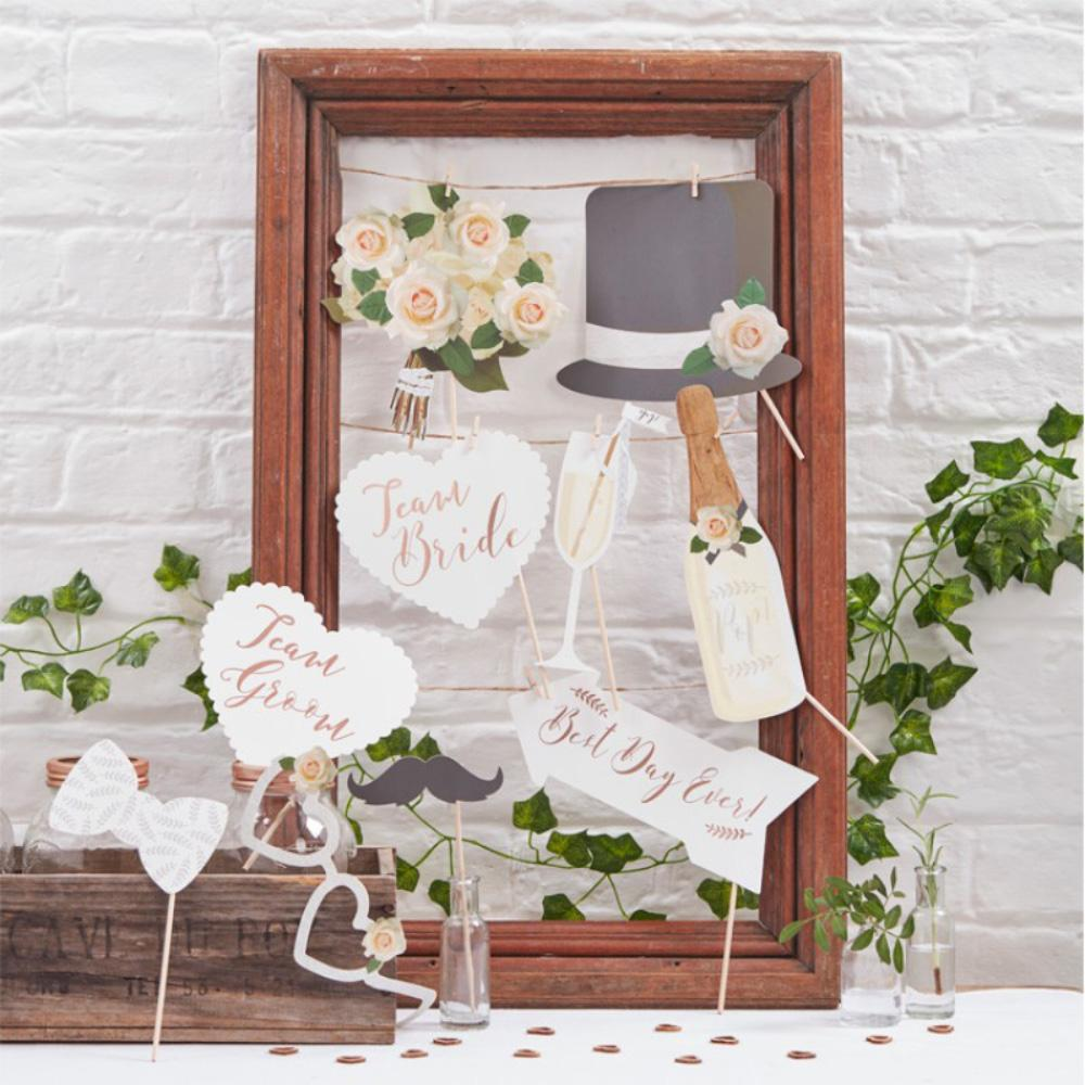 Wedding Photo Booth Props (x10)