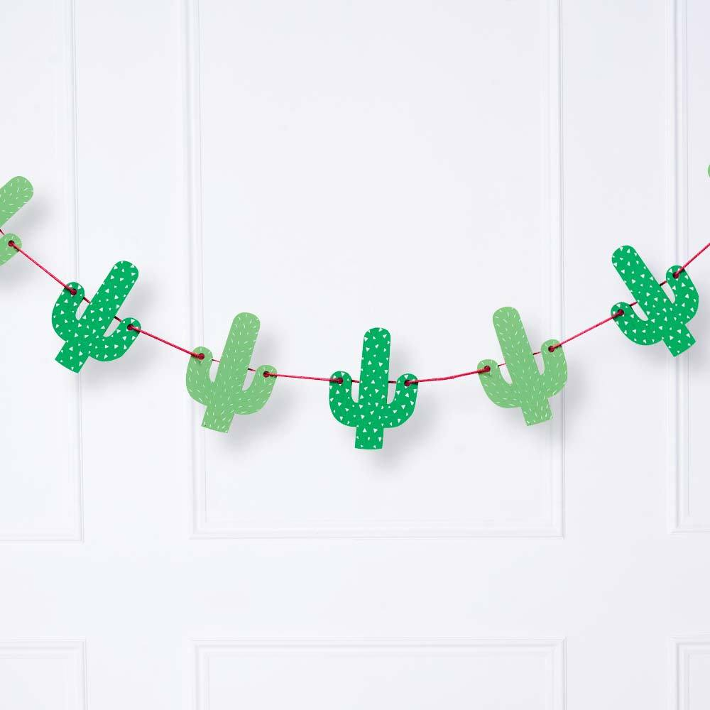 Tropical Party - Wooden Cactus Bunting