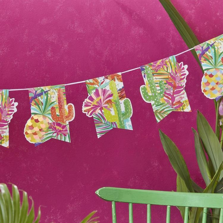 Tropical Party - Iridescent Party Bunting