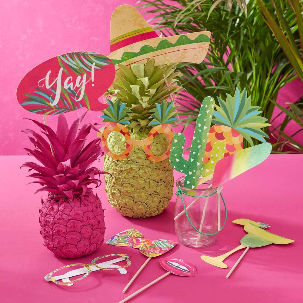 Tropical Party - Iridescent Photo Booth Party Props (x10)