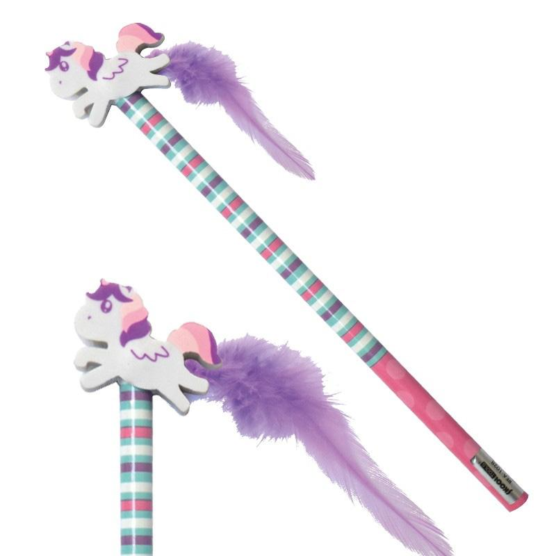 Unicorn Pencil Topper and Feather Tail (x2)
