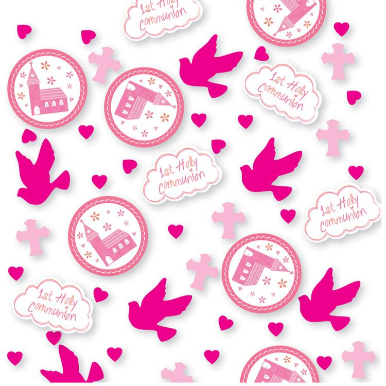 First Communion Confetti - Pink
