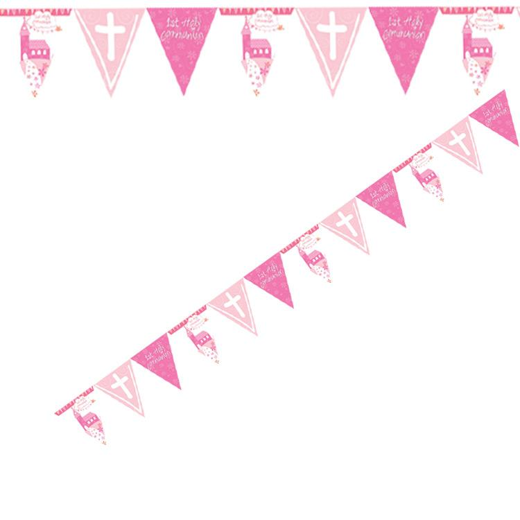 First Communion Banner - Pink
