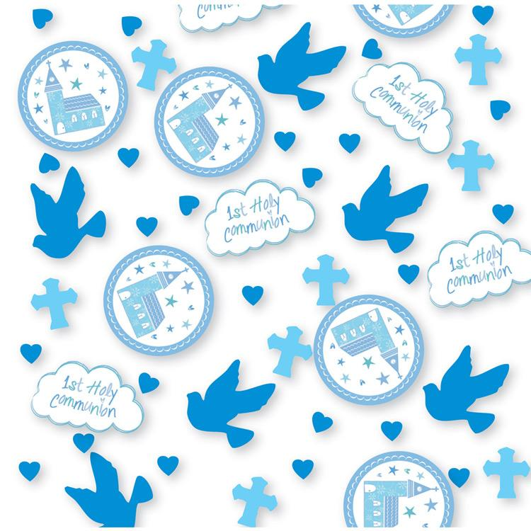 First Communion Confetti - Blue