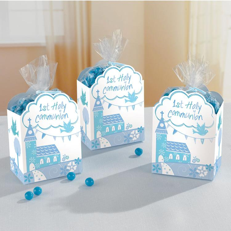 First Communion Favour Boxes - Blue (x8)